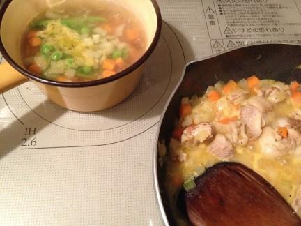 鶏のオレンジソース煮、できあがり