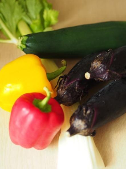 ラタトゥイユ材料野菜