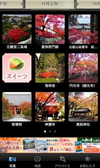 京都 紅葉 アプリ 11月上旬