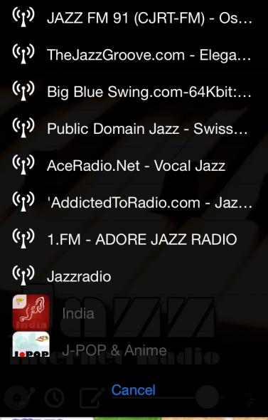 インターネットラジオ アプリ JAZZ チャンネル