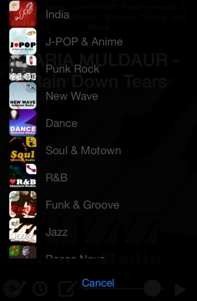 インターネットラジオ アプリ チャンネル 1