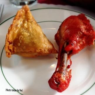 samosa and chicken