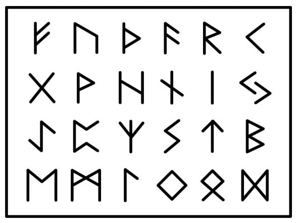 北欧ルーン文字のイラスト